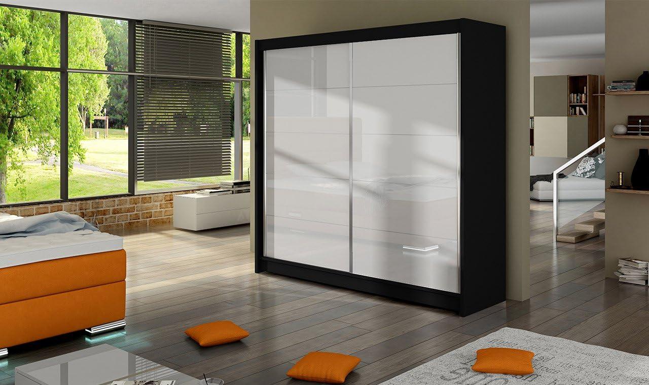 Armario Fabio 1 – Blanco – 180 cm de ancho – puertas correderas ...