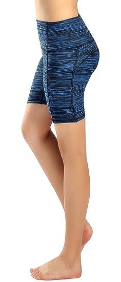 Munvot Mujer Pantalones Elasticos de Deporte Polainas Cortas ...