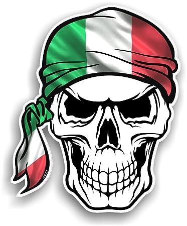 CTD Teschio con Testa Bandana Design con Italia Italiano Il Bandiera  Tricolore Paese novità Vinile Adesivo per Auto 100 x 120 MM  Amazon.it   Auto e Moto 00aa4f28e834