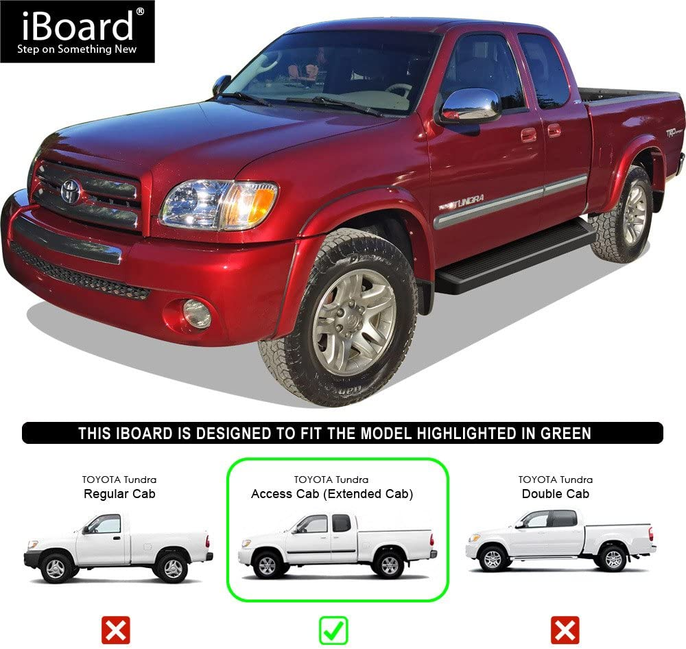 """Fit 07-20 Toyota Tundra Double Cab 3/"""" Running Board Nerf Bar Side Step BLK Oval"""