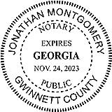 Georgia Notary Round Seal Stamp