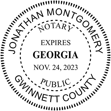 Amazon.com : Georgia Notary Round Seal Stamp : Office Products