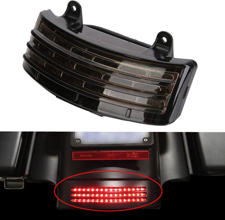 Nrpfell Parafango Posteriore per Motocicletta LED Indicatore di Direzione Fanale Posteriore Fanale Posteriore per Touring Street Glide FLHX EFI FLHX