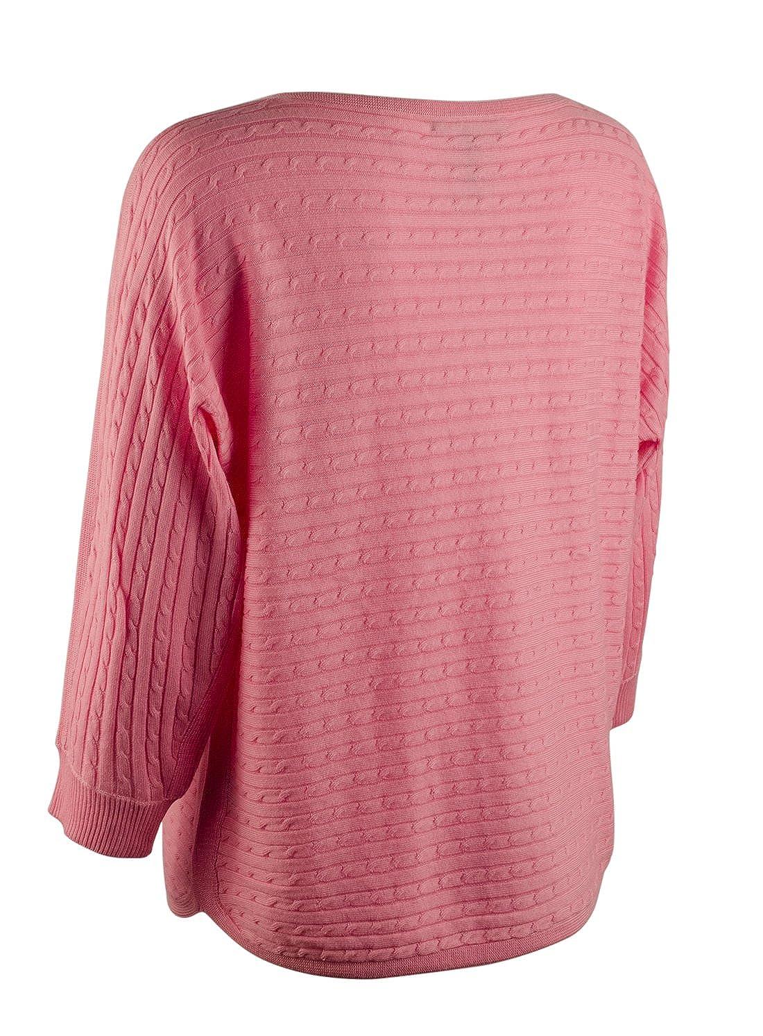 57715cf47942 Lauren Ralph Lauren Women s Cable-Knit Boat Neck Sweater at Amazon ...