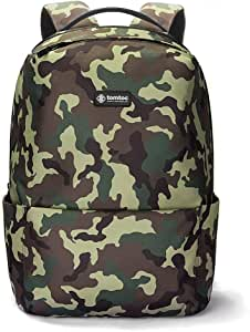 tomtoc Anti-Theft Commuting Backpack Fit 15.6 inch Laptop, College School Book Bag Business Travel Shoulder Pack Bag with USB Charging Port, BottomArmor Patent, Camouflage - 22L
