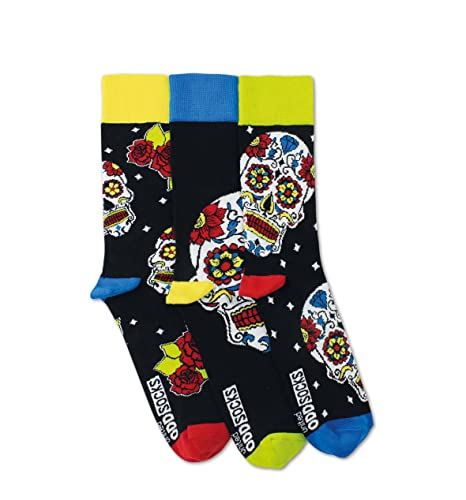 United Oddsocks – Wesley – para hombre – Talla 39 – 46 – 3 Calcetines=