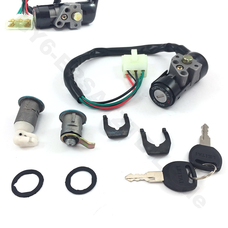 Scooter Ignition Key Switch Assembly Lock Set Some Retro Wire Diagram 50cc Panterra 71l L2wcgrl Sl1500