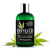 Skinsations – Hemp Oil Muscle Rub & Massage Oil | 100% Organic, Sore Muscle Pain...
