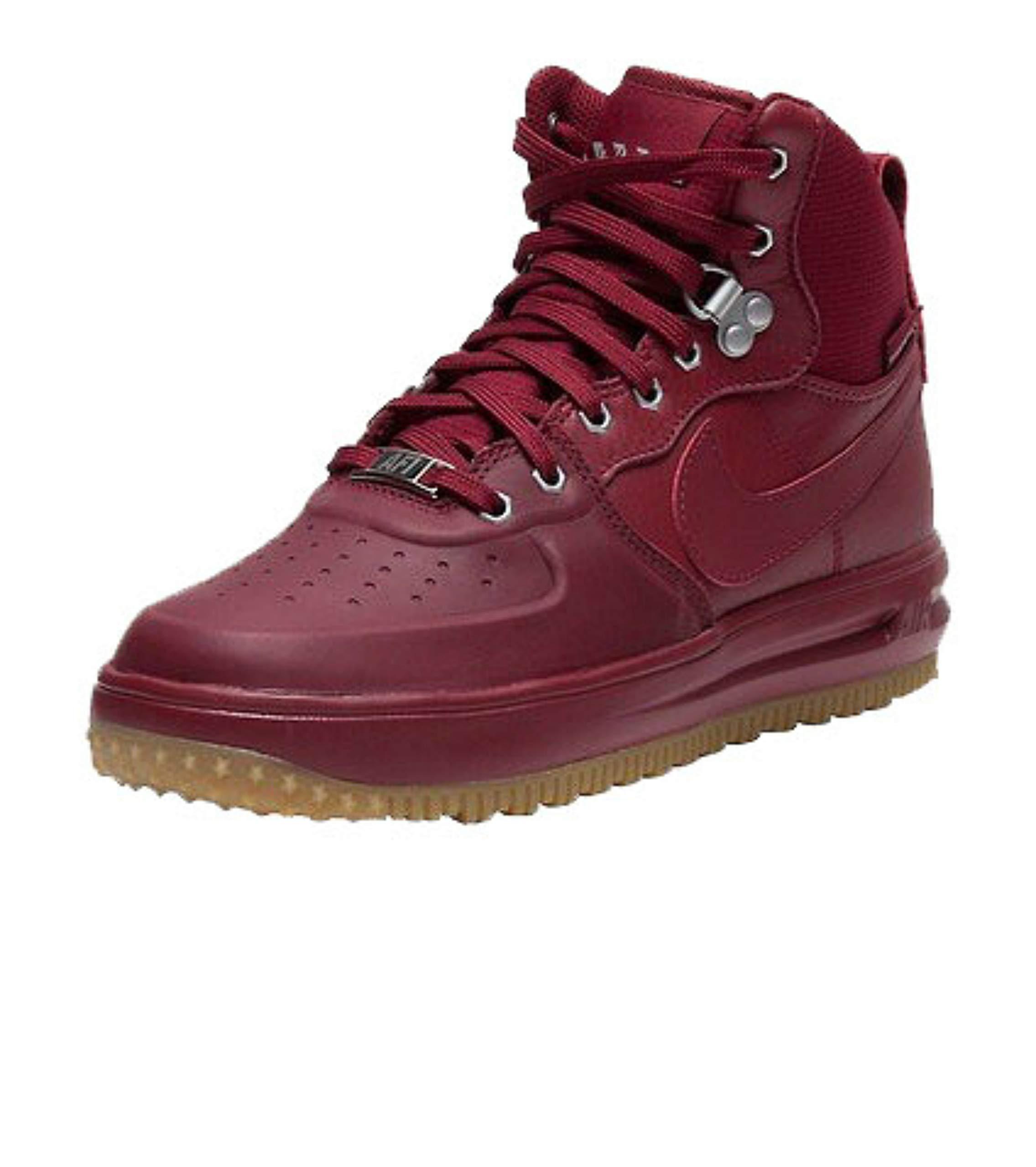 Nike Lunar Force 1 Sneakerboot Team Red/Team Red (4.5 M US Big Kid)