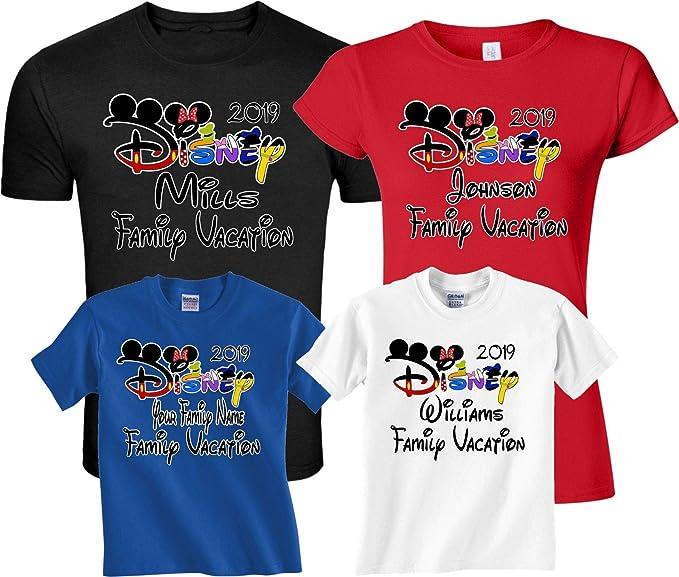 eeb739f07 Amazon.com: Family Vacation 2019 Custom Family Name Matching Shirts ...
