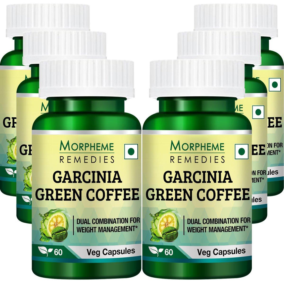 Morpheme Garcinia Green Coffee 500mg Extract 60 Veg Caps - 6 Bottles