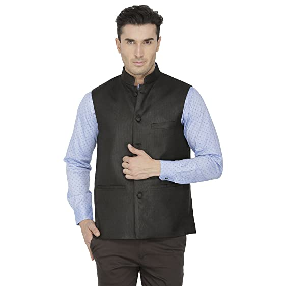 Inspire Black Linen Modi Jacket (X-Large): Amazon.in: Clothing ...