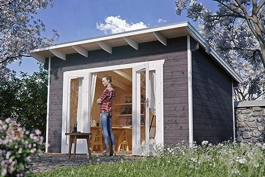 Skan Holz Cabaña Madera Casas de jardín, Listones hogar Ostende 1, Color Azul grisáceo, 250 x 350 x 249, 5 cm, 603695 – 13: Amazon.es: Jardín