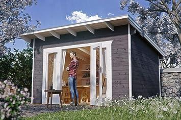 Cabaña Madera Casas de jardín, listones hogar Ostende 1, color azul grisáceo, 250 x 350 x 249, 5 cm, 603695 - 13: Amazon.es: Jardín