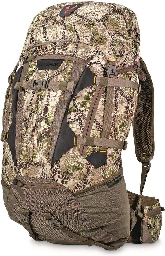 Badlands Sacrifice LS Camouflage Hunting Pack – Bow, Rifle, and Pistol Compatible, Approach Camo