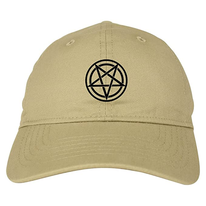 ad45bcf1 Pentagram Dad Hat 6 Panel Baseball Cap Beige. Roll over image to zoom in.  Kings Of NY