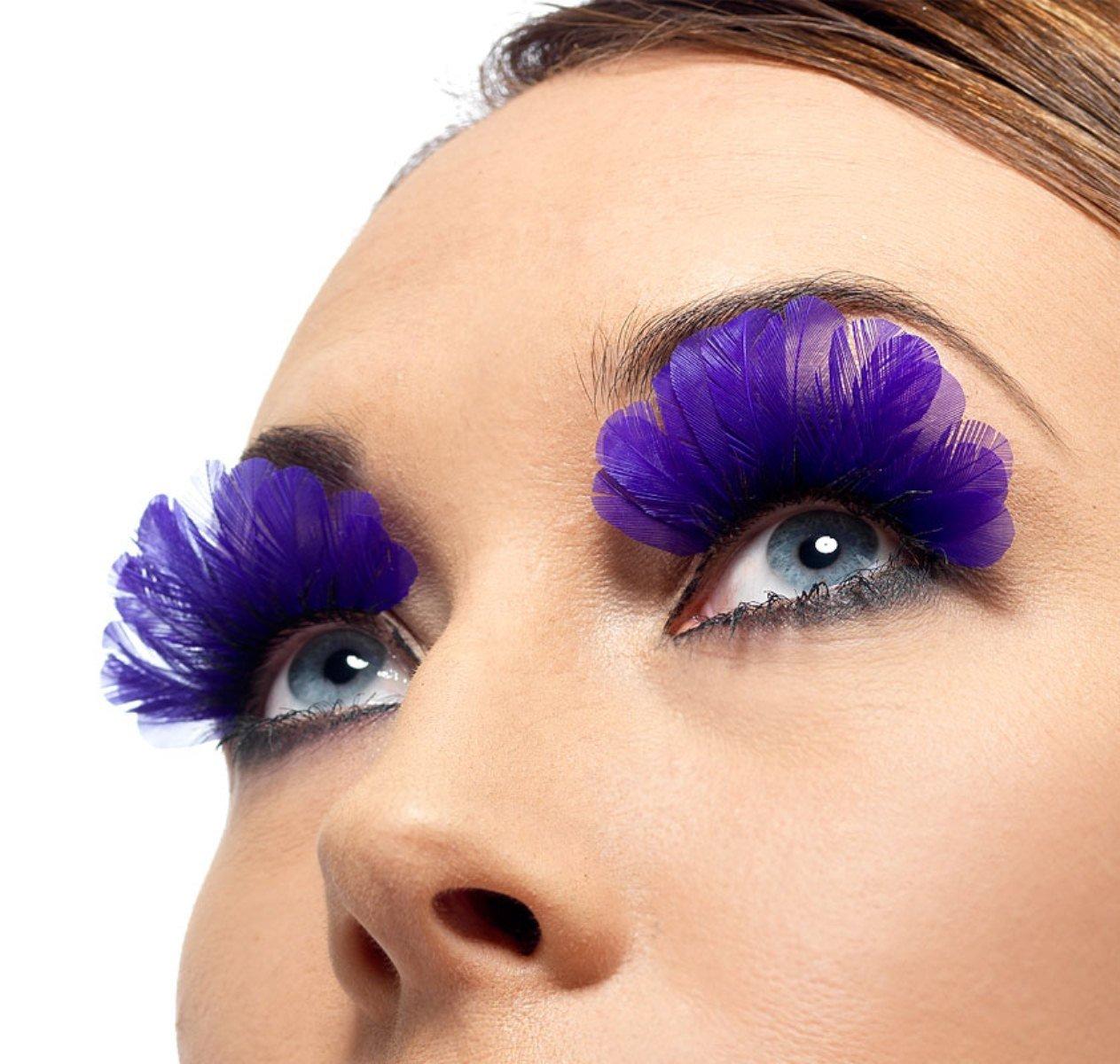Amazon Feathered Purple Eyelashes Fake Eyelashes And