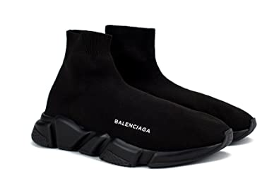 a3905364377 TOPSHOD Unisex Mens Womens Balenciaga Speed Trainer Sneaker Triple Black