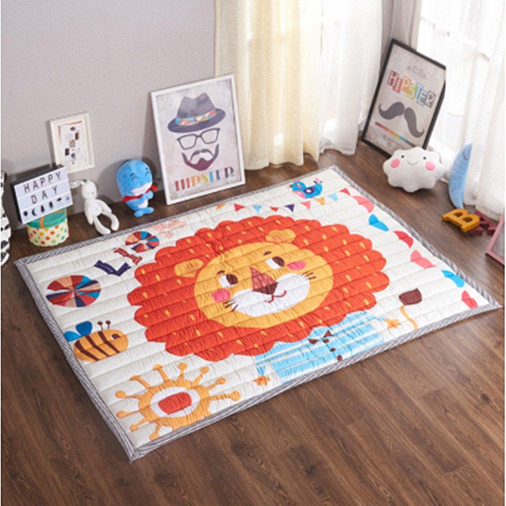 華麗 Ustide Baby B077MYVQDM Play Matコットン床ジム – Ustide 非毒性ノンスリップリバーシブル洗濯可能 Lion、ラージ B077MYVQDM Orange Lion Orange Lion, ジャンクワールド2nd:9ac30619 --- irlandskayaliteratura.org
