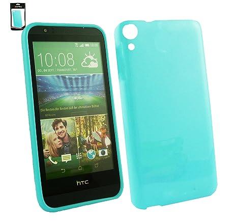 Emartbuy® HTC Desire 820 Shiny Lustroso Ultrafina a Presión TPU Gel Funda Carcasa Case Cover Azul