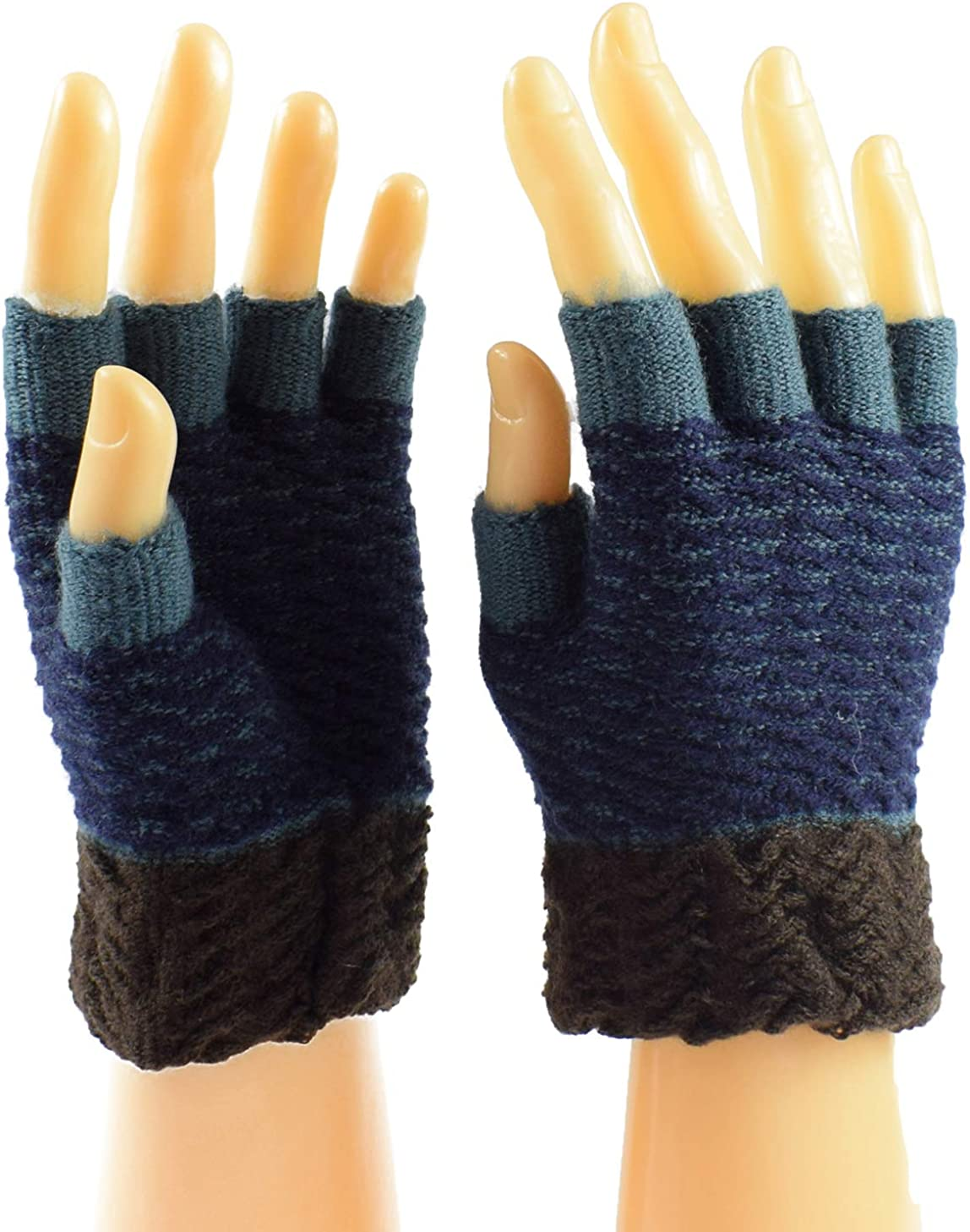 Knit Fingerless Work Gloves...