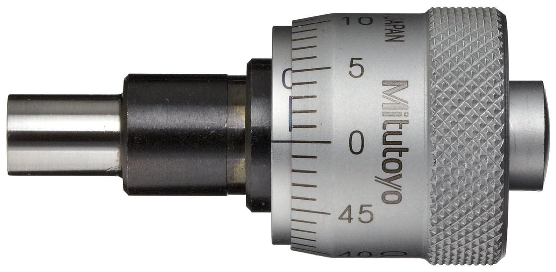 0-6.5mm Range Mitutoyo 148-303 Large Micrometer Head Flat Face -0.002mm Accuracy Plain Thimble 20mm Thimble Dia. 0.01mm Graduation