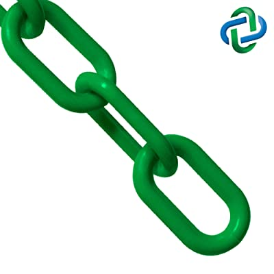 Mr. Chain Plastic Barrier Chain, Green, 1-Inch Link Diameter, 25-Foot Length (10004-25): Industrial & Scientific