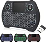Backlit Mini Wireless Keyboard with Touchpad Mouse Combo, Rechargable Li-ion Battery