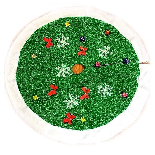 Leobtain Decoración de año Nuevo de Navidad - Falda de árbol de ...