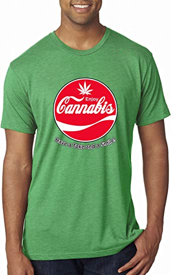 Enjoy Cannabis Have a Toke and a Smile Mens T Shirt
