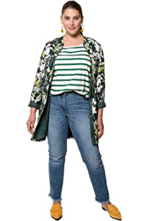 f6e048aee5d3d Studio Untold Women s Plus Size Butterfly Floral Print Jacket 718455