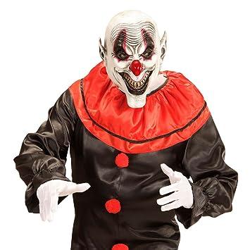 Careta de payaso de terror sonriente Máscara bufón de miedo Antifaz payasito loco Mascarilla látex arlequín