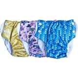 Bumpadum Pull-up Waterproof Cloth Nappy/Training Pant with Wet Zone - 8 to 15 kgs (Pack of 3) Assorted Colours