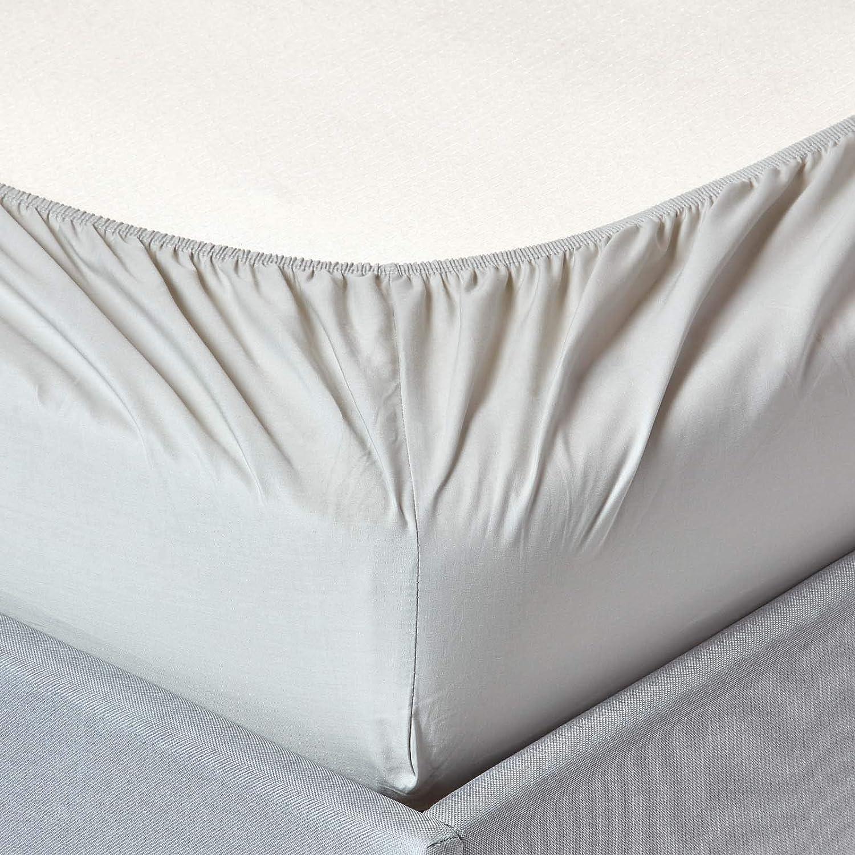 HOMESCAPES Sábana Bajera Ajustable 100% algodón Egipcio 200 Hilos ...