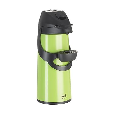 Emsa Pronto Pump- Vacuum Jug, 1.9 L, Green, Coffee, Tea Jug, Thermos ...