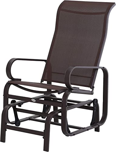 Outsunny Swinging Glider Lounging Chair w/Smooth Rocking Arms Lightweight Construction