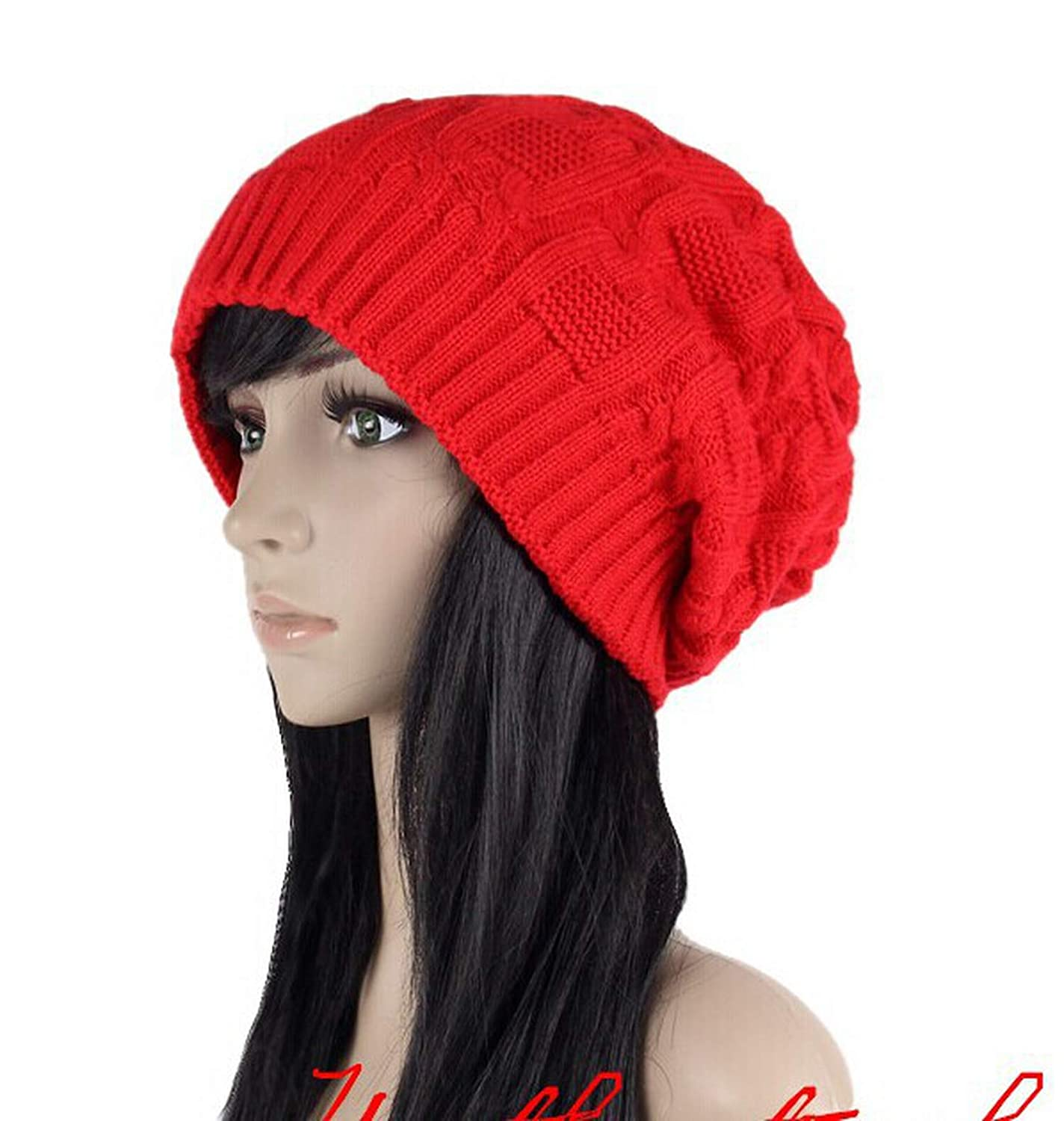 deals sale Fashion Caps Warm Autumn Winter Knitted Hats for Women ...