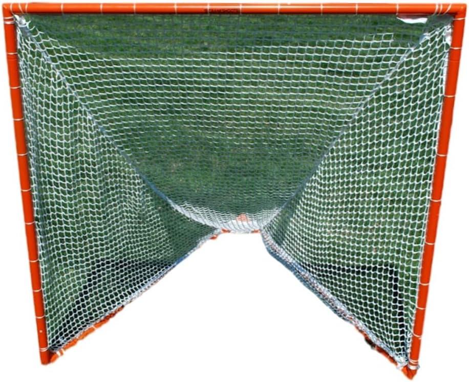 ラクロスゴール/ 5 mm NetコンボPractice Goal 6 ' x6 ' x7 ' by crankshooter、35 lbs-includes 5 mmホワイト