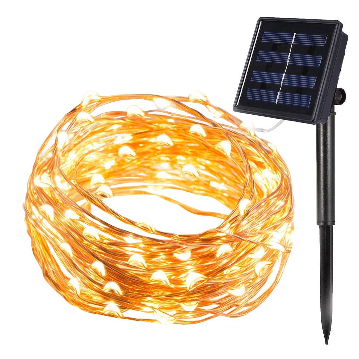 Solar Lichterkette | InnooLight 100er LED Solar Kupferdraht ...