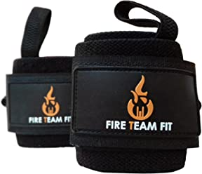 Wrist Wraps - 12 inch by Fire Team Fit - Premium Quality for Weightlifting, Wrist Support, Power Lifting wrist wraps 12 inch, fire team fit, lifting wrist support wraps, power lifting wrist wraps