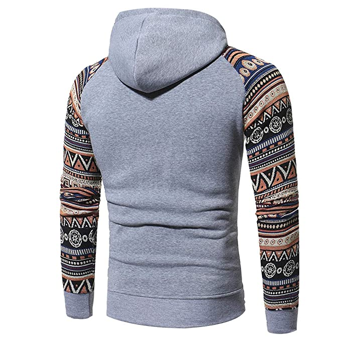 KASAAS Vintage Long Sleeve Drawstring Hoodie for Men Retro O Neck Hooded Sweatshirt Tops Jacket Coat Outwear at Amazon Mens Clothing store: