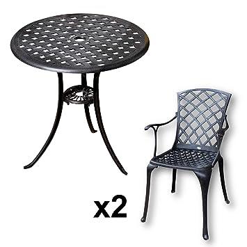 Bistrotisch Mit Stühlen amazon de lazy susan betty bistrotisch mit 2 stühlen rundes