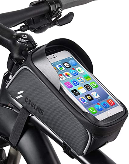 """MTB Bicycle Motorcycle Mount Holder Bag 6.5/"""" Cell Phone Cycling Waterproof Case"""