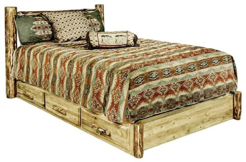 Montana Woodworks Glacier Country Collection Platform Bed with Storage, King