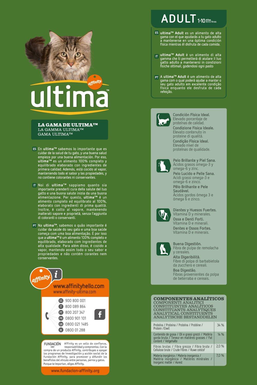 Ultima Alimento Para Gatos Adultos, Sabor de Pollo - 1500 gr: Amazon.es: Amazon Pantry