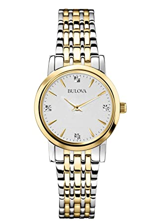 Bulova 98P115 Mens Two Tone Diamonds Thin Series Watch