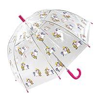 Susino Parapluie Cloche transparente Enfant - Imprimé dinosaures Stick Umbrella, 60 cm, Multicolour (Multicolore)