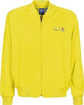 77035bd9bae6 adidas Mono Color SST Jacket - Yellow - Large  Amazon.co.uk  Clothing