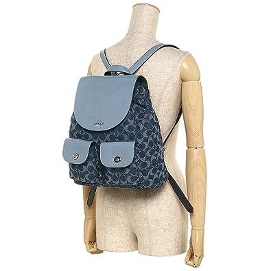 8d639f93a1ec Amazon   [コーチ] リュック アウトレット レディース COACH F25892 SVDE デニム [並行輸入品]   COACH(コーチ)    Amazon Fashion