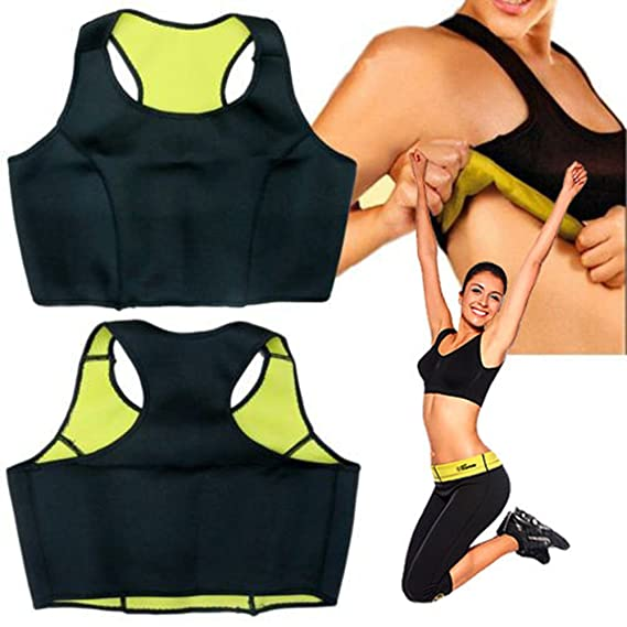 0ebdb6ee10223 Frackkon Slimming Pants Capris Hot Thermo Neoprene Combo Set Vests Bra Pants -Belt Sweat Sauna Body Shapers Yoga for Weight Loss Pant Bra Size- Medium   ...